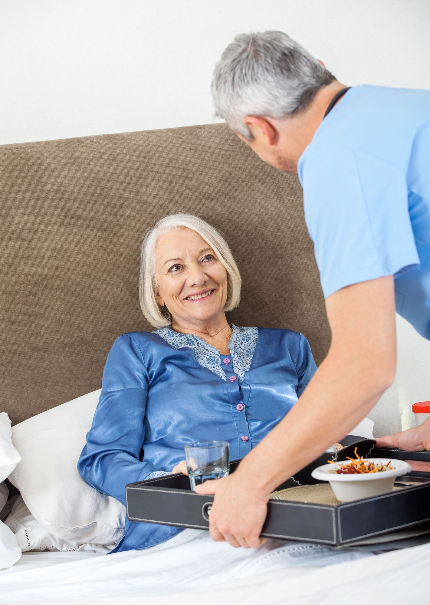 Image of home carer for elderly woman