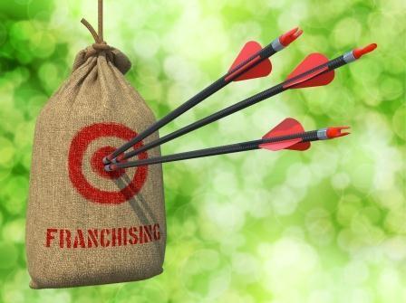 bigstock-Franchising-Arrows-Hit-in-Re-72237205-448x335
